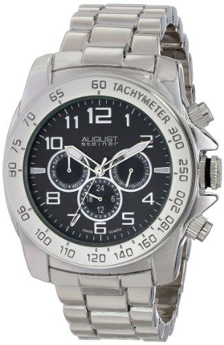 August Steiner AS8095SSB 46mm Metal Case Metal Mineral Men's Watch
