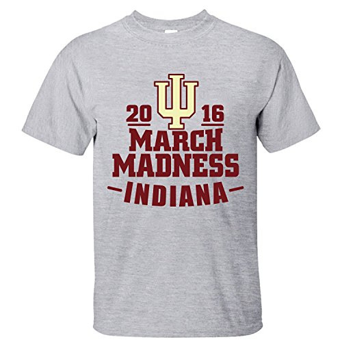 XTOTO Men's March Madness Indiana Hoosiers Cool T-shirts grey L (Noam Ch compare prices)
