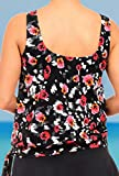 Beach Belle Womens Wildflower Blouson Top