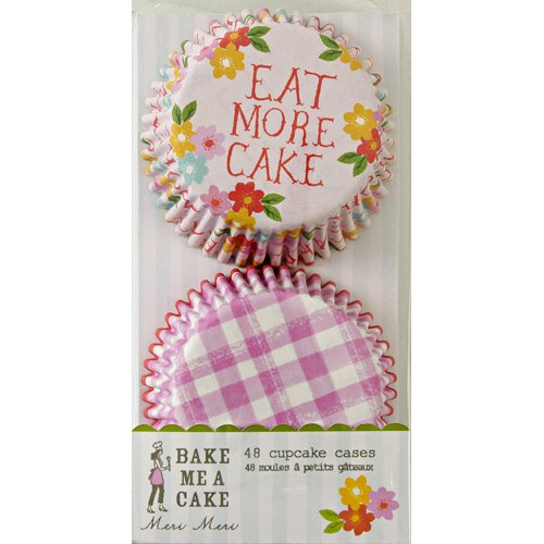 Get Meri Meri Eat More Cake And Gingham Cupcake Cases, 48-Pack occupation