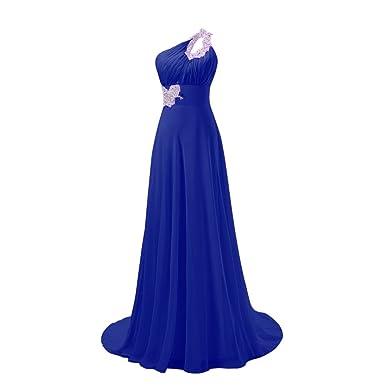 Fashion Plaza One Shoulder Formal Prom Gown Evening Wedding Dresses D031