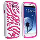 Poposh Zebra Silicone Case for Samsung Galaxy S3 S III I9300 I9305 Case Cover Bag Case (Light Pink)