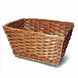 Basil Wicker Front Basket w/ Leather Belts for Fastening to Handlebar