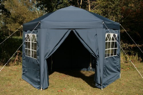 Airwave Pop-Up-Pavillon, 3,5 m, sechseckig, blau