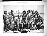 Impresión Antigua del Equipo 1881 del Bote salvavidas Listo Para la Bella Arte de Dadd de los Chalecos salvavidas de los Hombres del Servicio