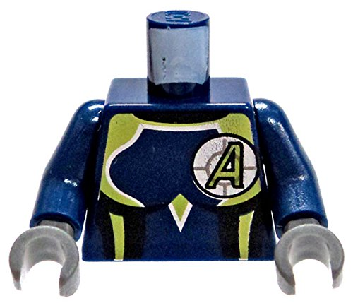 LEGO Agents Minifigure Parts Blue Female Body Suit with Green & Silver Trim with Green A in Cross-Hairs Loose Torso [Loose] (Lego Minifigures Body Parts compare prices)