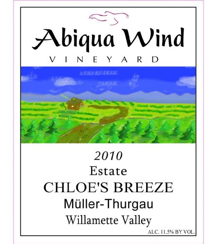 2013 Abiqua Wind Vineyard Chloe'S Breeze Müller-Thurgau Willamette Valley Estate 750 Ml