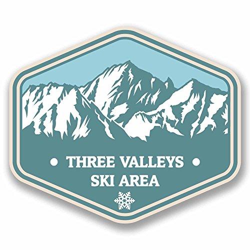 2-x-10cm-three-valleys-france-vinyl-sticker-travel-mountains-ski-snowboard-9764