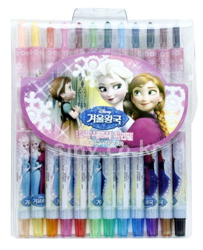 Ana and the snow Queen elementary school pencil 12 color / children's Frozen frozen Ana Elsa OLAF anime 922589 Walt Disney Walt Disney Let It Go Anna Elsa Olaf Official licensed product 53 (12 colors)