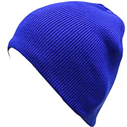 Artex Unisex Classic Stretchy Warm Winter Slouchy Beanie Hat (One Size, Royal Blue)