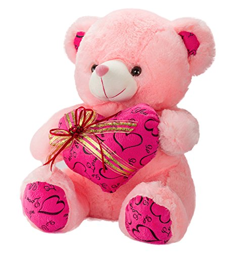 Dhoom-Soft-Toys-Teddy-Bear-Lace-Heart-Pink-40-CM