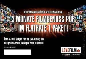 Lovefilm Pack illimité pour 3 mois (Import Allemagne)