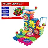 Gear Building Toy Set - Interlocking Learning Blocks - Motorized Spinning Gears - 81 Piece Playground Edition...