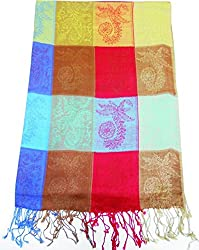 Maira Women's Shawls stoles & Pashmina Multicolour blocks