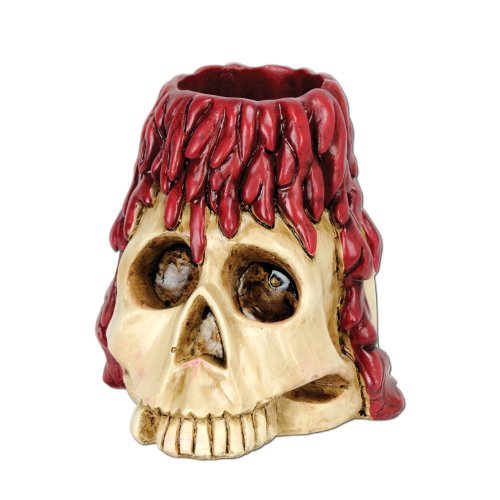 Beistle Skull and Candle Tea Light Holder, 6-Ounce by The Beistle Company