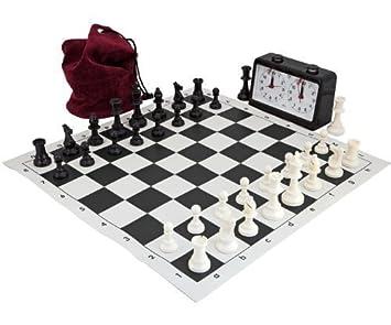 Completo Torneo Ajedrez Set Negro