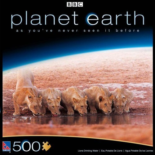 Planet Earth BBC Great Plains, Lions Drinking Water