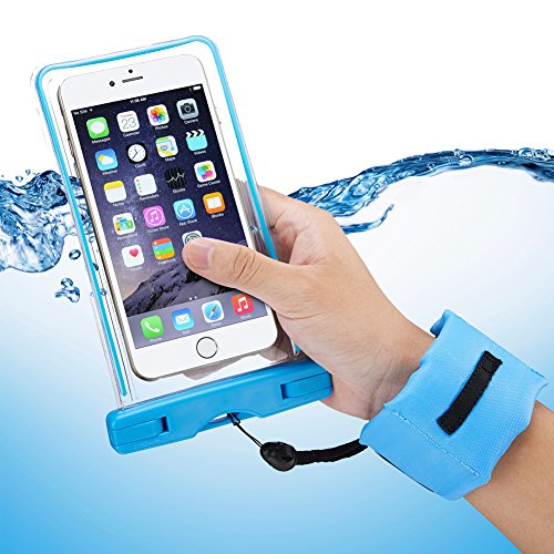 Accmor Waterproof Case with Floating Wrist Strap IPX8 Certified Waterproof Bag for Waterproof iPhone 6 Plus, 6 5S 5C 5 4S, Samsung Galaxy S6, S5, S4, S3, Note 4, Note 3, Note 2, LG G4 G3 G2 Cell Phone (Lg G2 Case Waterproof compare prices)