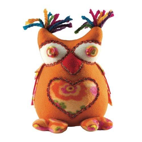 Laid Back Plush Owl, Orange - 1