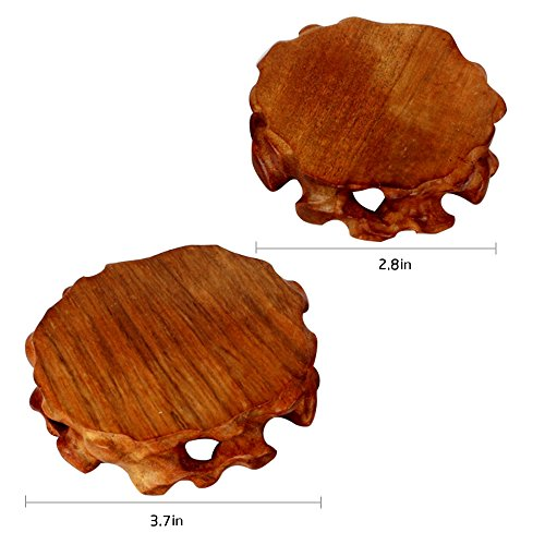 Ieasycan 4 Pieces Wood Coasters A Lot Retro Style Home Creative Furnishing Heat Insulation Cup Pad Wooden Round Coaster For Hotel Bar (Clear Mats For Chevy Cruze compare prices)