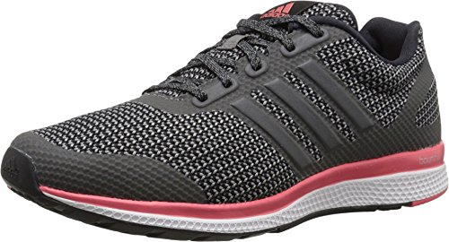 Adidas Performance Women's Mana Bounce Running Shoe,Black/Vista Grey/Prism Blue,8 M US
