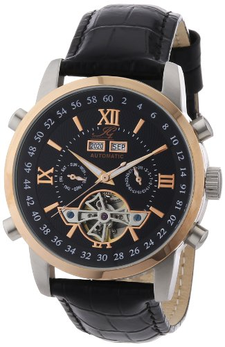 Ingraham Men's Automatic Watch Calcutta IG CALC.1.200167 with Leather Strap