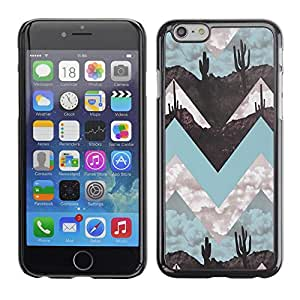 Omega Covers - Snap on Hard Back Case Cover Shell FOR Iphone 6/6S (4.7 INCH) - Landscape Art Minimalist Teal