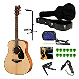 Yamaha FG800 Solid Top Acoustic Guitar with Knox Hardshell Case ,Stand ,Tuner ,Strings Strap and accessories