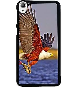 ColourCraft Attacking Hawk Design Back Case Cover for HTC DESIRE 826