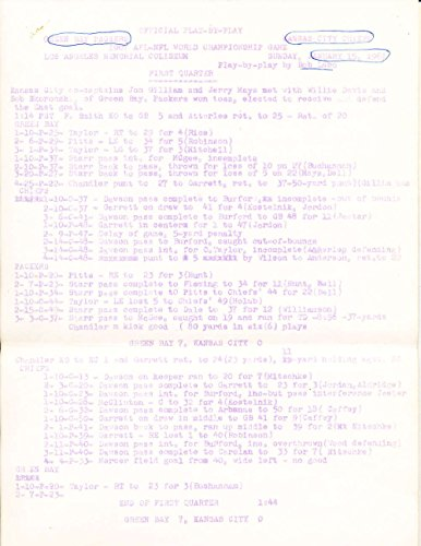 Superbowl 1 1967 Press Write Ups and Notes 14 pages legal (1967 Super Bowl Program compare prices)