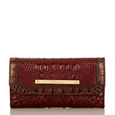 Soft Checkbook Wallet<br>Carmine Red Tri-Texture