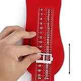 Kleinkind Kinder Fußmessgeräte (Rot) -