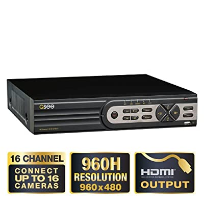 Q-See® 16 Ch FULL D1 960H 1TB Hard Drive Security CCTV DVR with HDMI QT5516-1