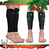 Calf Sleeve Package - Calf Compression Sleeve & Calf Support Wrap - #1 Unisex Leg Compression Socks for Shin Splint & Calf Pain Relief - Increased Performance & True Graduated Compression (S - M)