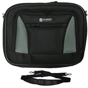 APPLE MacBook 13 MB403LL/A Laptop Case Carry Handle & Adjustable Shoulder Strap - Black/Gray - Adjustable & Removable Interior Divider