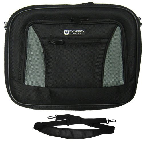 Dell Latitude E6420 ATG Laptop Chest - Carry Handle & Adjustable Shoulder Strap - Pitch-black/Gray - Adjustable & Removable Interior Divider