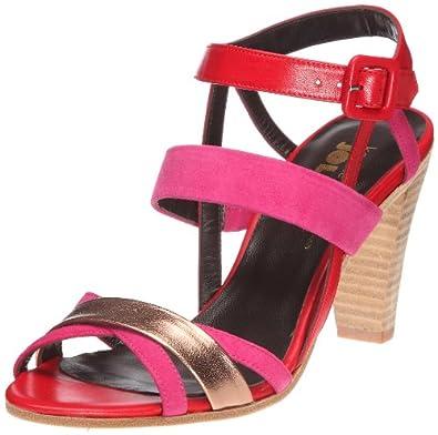Karine Arabian Jolly, Sandales femme - Rouge/fuchsia/rose, 39 EU