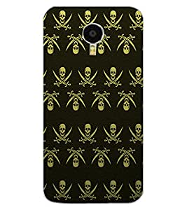 ColourCraft Skull Pattern Design Back Case Cover for MEIZU M3 NOTE