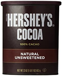 Hershey's Unsweetened Cocoa Can, 100% Cacao, 23-Ounce