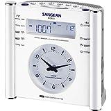 Sangean RCR-3 RCR-3 AM/FM Atomic Digital/Analog Clock Radio (White)