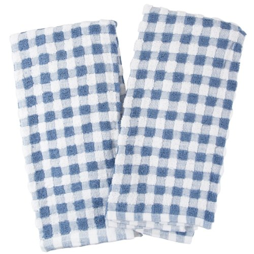 Farberware Blue And White Checkered Popcorn Terry Kitchen Towel, Set Of 4  Review