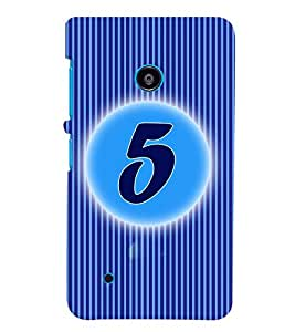 Fuson 3D Printed Numerology Designer back case cover for Nokia Lumia 530 - D4222