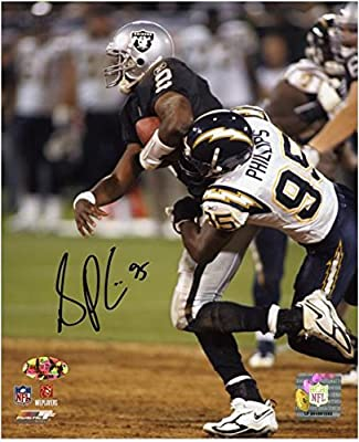 """Shaun Phillips San Diego Chargers Autographed 8"""" x 10"""" vs Oakland Raiders Photograph - Fanatics Authentic Certified"""