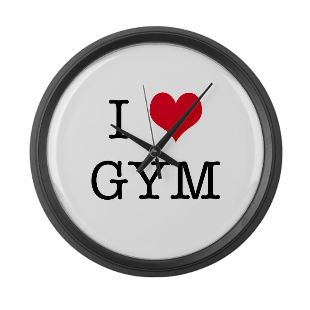 I Heart Gym Large Wall Clock by CafePress