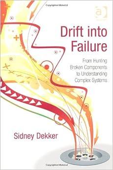 Drift into Failure: Sidney Dekker: 9781409422211: Amazon.com: Books