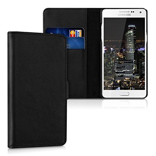 kalibri-Leder-Hlle-James-fr-Samsung-Galaxy-A5-2015-Echtleder-Schutzhlle-Wallet-Case-Style-mit-Karten-Fchern-in-Schwarz