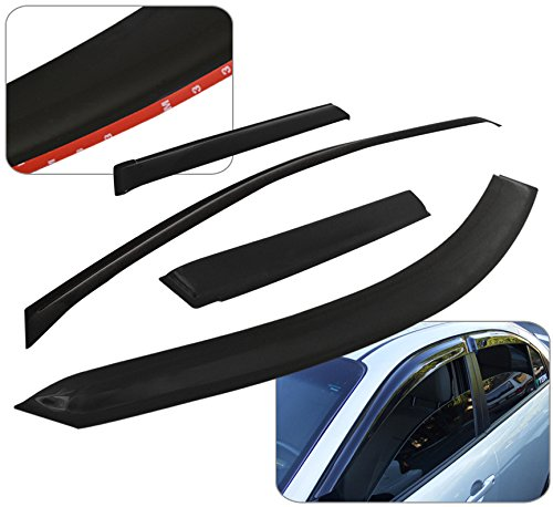 Chevy Colorado Gmc Canyon Crew Cab Door Window Visor Rain Guard Shade Wind Sun Deflector Aerodynamic Vent Ventilation In-Channel 4 Pieces (Chevy Colorado Door compare prices)