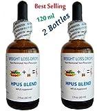 2 x NHL HPUS Blend Essential Formula Quick Weight Loss Diet Drops 120ml 4 fl oz - Get Slim Fast!