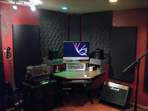 Best cheap acoustical wall panels studio recording for Sound proof wall padding