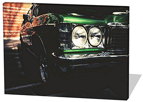 Muscle-Car-Gemlde-Effekt-schnes-und-hochwertiges-Leinwandbild-zum-Aufhngen-in-XXL-100cm-x-70cm-echter-Holzrahmen-effektiver-Pigmentdruck-modernes-Design-fr-Ihr-Bro-oder-Zimmer